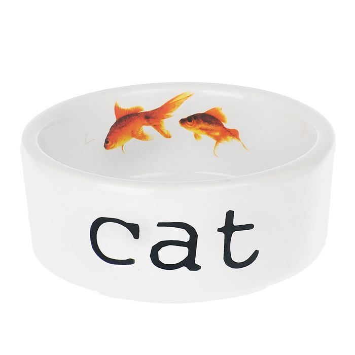 Миска для кошек I.P.T.S. Snapshot, 300 мл0120710Миска для кошек I.P.T.S. Snapshot изготовлена из керамики. Внешняя сторона миски оформлена надписью Cat. На внутренней стороне миски изображены две золотые рыбки. Миска предназначена для воды или корма. Объем миски: 300 мл.