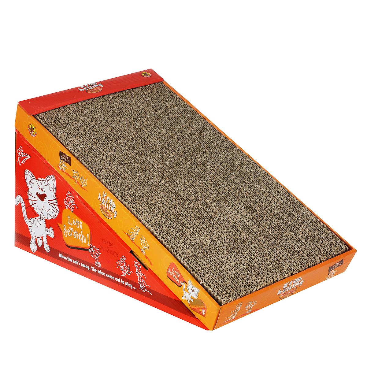 Когтеточка-горка I.P.T.S. с кошачьей мятой, 46 см х 23 см х 4 см0120710Когтеточка I.P.T.S. выполнена из плотного картона в виде горки и предназначена для кошек. Яркая когтеточка, пропитанная кошачьей мятой, позволит приучить кошку точить коготки в строго определенном месте.