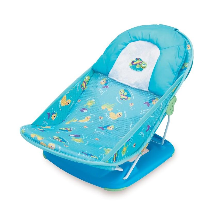 Лежак с подголовником для купания Summer Infant Deluxe Baby Bather, цвет: голубой