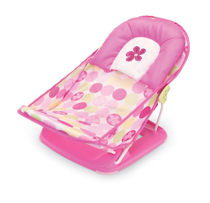 Лежак с подголовником для купания Summer Infant Deluxe Baby Bather, цвет: розовый
