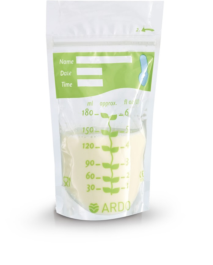 Пакет для замораживания грудного молока Ardo  Easy Freeze , с верхним зажимом, 20 шт -  Молокоотсосы