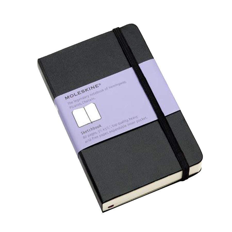 Блокнот Moleskine Pocket Sketch-book 80 листов без разметки цвет черный