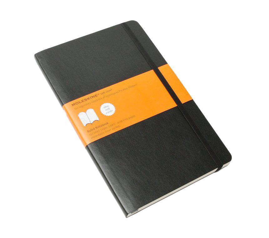 Записная книжка в твердой обложке содержит 240 страниц в линейку. Неповторимые черты записной книжки Молескин: Удобная эластичная застежка; Прочная влагозащитная обложка; Прошитый нитками переплет; Практичные скругленные углы; Не желтеющие со временем страницы; Быстро впитывающая чернила бумага; Функциональная лента-закладка; Вместительный внутренний кармашек.