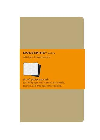 Блокнот Moleskine Cahier (в линейку) Pocket бежевая 3 шт72523WDЛегкая и компактная записная книжка Moleskine Cahier поместится в любом кармане.Записная книжка в картонной обложке без пропитки содержит 64 страницы в линейку. Неповторимые черты записной книжки Молескин: Прошитый нитками переплет;Практичные скругленные углы;Не желтеющие со временем страницы;Последние 16 листов с перфорацией для отрыва;Быстро впитывающая чернила бумага;Вместительный внутренний кармашек. Характеристики: Цвет: бежевый. Размер: 9 см х 14 см. Материал: бумага, картон.Moleskine (Молескин) - легендарная записная книжка, которой уже два столетия отдает дань любви и уважения европейская творческая интеллигенция: писатели, журналисты, художники, дизайнеры, архитекторы, актеры и музыканты. Среди знаменитых поклонников Moleskine - Эрнест Хемингуэй и Пабло Пикассо, Брюс Чатвин и Луис Сепульведа, Винсент Ван Гог и Анри Матисс, Жан-Поль Сартр и Гийом Апполлинер, Оскар Уайльд и Гертруда Стайн. Множество ярких идей и набросков были до времени скрыты этим тайным помощником, чтобы однажды найти свое воплощение в великих книгах и гениальных полотнах. Сегодня записная книжка Moleskine - это не только символ утонченного вкуса и изысканного стиля, но и частичка прекрасной легенды, бережно сохраняемая каждым из ее обладателей. Королем сюжета называют Moleskine, так как эта записная книжка любима режиссерами и сценаристами. Универсальный внешний вид Moleskineотлично вписывается и в костюмированный исторический антураж и в современный быт XXI века. Культовую записную книжку легко узнать в таких популярных фильмах, как Амели, Магнолия, Сокровище нации, Талантливый мистер Рипли, Дьявол носит Prada, Давайте потанцуем, Индиана Джонс, Хроники Конан Дойла и многих других. И каждый раз книжкаMoleskineоказывается в руках людей неординарных.