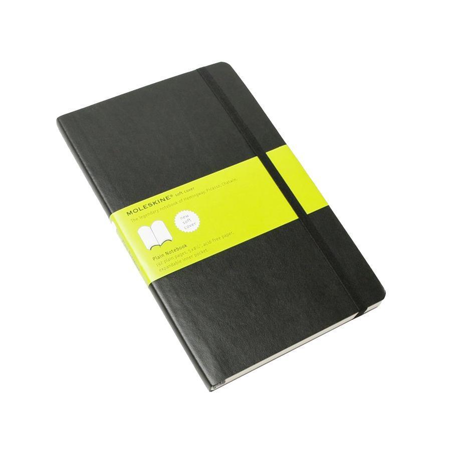 Блокнот Moleskine Classic Soft (нелинованная) ХLarge черная385252Эргономичный нелинованный блокнот размера extra large в мягкой, но прочной обложке легко помещается в свернутом виде в карман. Он станет надежным спутником в путешествии и идеально подойдет для записи мыслей и заметок. Этот продукт выполнен в шитом переплете с мягкой обложкой со закругленными углами, закладкой, эластичной застежкой и вместительным внутренним карманом, куда вложена карточка с историей Moleskine. Moleskine (Молескин) - легендарная записная книжка, которой уже два столетия отдает дань любви и уважения европейская творческая интеллигенция: писатели, журналисты, художники, дизайнеры, архитекторы, актеры и музыканты. Среди знаменитых поклонников Moleskine - Эрнест Хемингуэй и Пабло Пикассо, Брюс Чатвин и Луис Сепульведа, Винсент Ван Гог и Анри Матисс, Жан-Поль Сартр и Гийом Апполлинер, Оскар Уайльд и Гертруда Стайн. Множество ярких идей и набросков были до времени скрыты этим тайным помощником, чтобы однажды найти свое воплощение в великих книгах и гениальных полотнах. Сегодня записная книжка Moleskine - это не только символ утонченного вкуса и изысканного стиля, но и частичка прекрасной легенды, бережно сохраняемая каждым из ее обладателей. Королем сюжета называют Moleskine, так как эта записная книжка любима режиссерами и сценаристами. Универсальный внешний вид Moleskineотлично вписывается и в костюмированный исторический антураж и в современный быт XXI века. Культовую записную книжку легко узнать в таких популярных фильмах, как Амели, Магнолия, Сокровище нации, Талантливый мистер Рипли, Дьявол носит Prada, Давайте потанцуем, Индиана Джонс, Хроники Конан Дойла и многих других. И каждый раз книжкаMoleskineоказывается в руках людей неординарных.