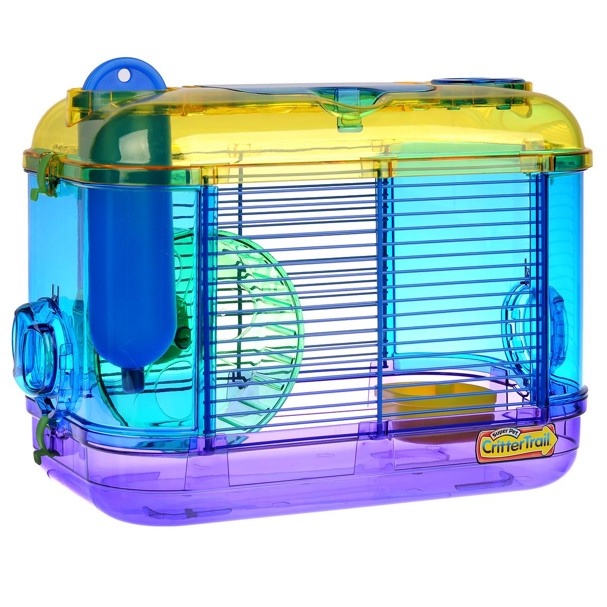 Клетка для грызунов I.P.T.S. Mini, с игровым комплексом, 32 см х 20 см х 24 смDCC1048SНебольшая клетка снабжена всем необходимым для отдыха и активной жизни грызунов. Подходит для мышей, песчанок, хомяков. Клетка оборудована мини игровым комплексом, колесом для подвижных игр, кормушкой и поилкой. Клетка выполнена из прозрачного пластика. Надежно закрывается на защелки. Такая клетка станет уединенным личным пространством и уютным домиком для маленького грызуна.
