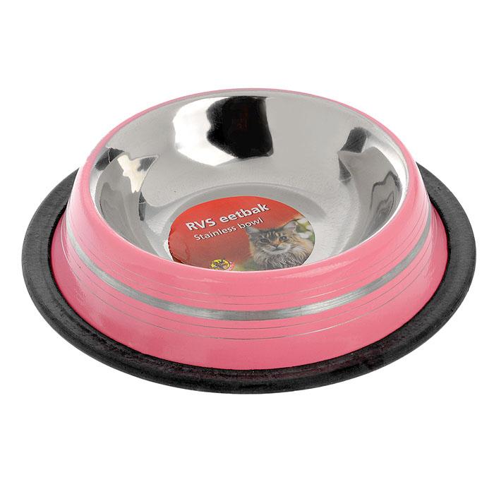 Миска для кошек I.P.T.S., стальная, цвет: розовый, 180 мл25942/653736Удобная и красивая миска для кошеки собак с нескользящей поверхностью дна. Можно использовать для воды и корма. Миска устойчива и не переворачивается. Высококачественная полировка, устойчива к деформации. Объем миски 180 мл.