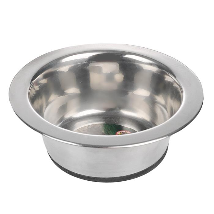 Миска для собак I.P.T.S., стальная, с резиновым дном, 180 мл0120710Стальная миска I.P.T.S. для собаки, дно с резиновым покрытием для предупреждения скольжения по любой поверхности. Может использоваться для корма и воды. Диаметр миски: 11 см.Объем миски: 180 мл.