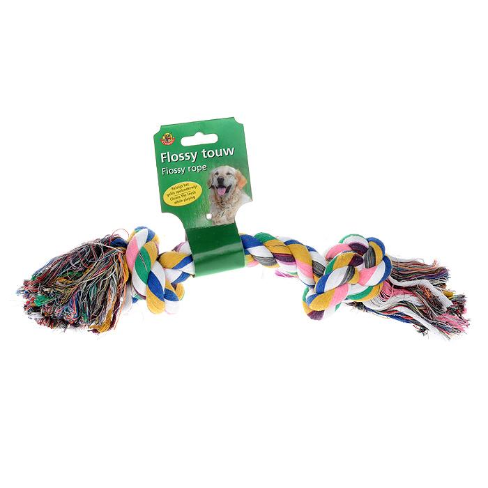 Игрушка для собак I.P.T.S. Канат с 2-мя узлами, цвет: белый, розовый, синий0120710Игрушка для собак I.P.T.S. Канат с 2-мя узлами изготовлена из прочного текстиля в виде каната с двумя завязанными узлами на концах. Специальная форма позволяет тренировать и развивать челюсть собаки. Игрушка предназначена для игр с собакой любого возраста. Такая игрушка привлечет внимание вашего любимца и не оставит его равнодушным. Длина: 40 см.