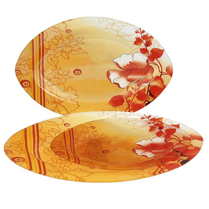 Набор блюд Lillo, 3 шт. S 4501A-3-237740103Набор Lillo состоит из трех блюд овальной формы, выполненных из стекла. Блюда украшены ярким цветочным рисунком. Прекрасно подойдут для подачи салатов, закусок и другого. Изящные блюда прекрасно оформят стол и порадуют ваших гостей изысканным дизайном и формой.