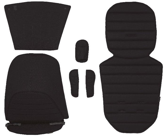Набор включает в себя: капор вставку в прогулочный блок вставку в корзину для покупок накладки на ремни накидку на ноги