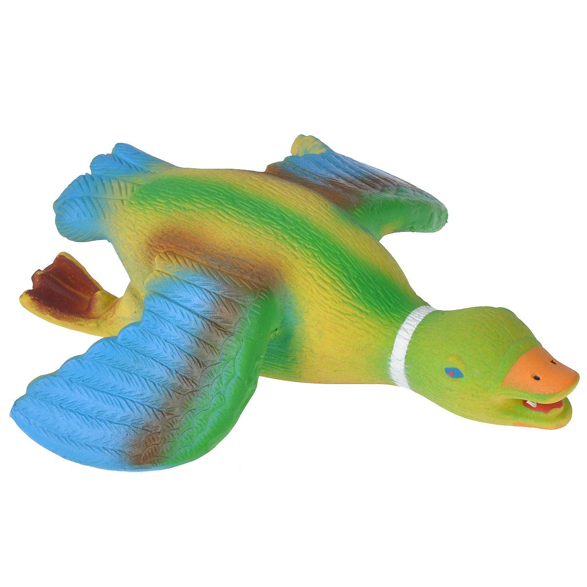 Игрушка для собак I.P.T.S. Утка с крыльями0120710Игрушка для собак I.P.T.S. Утка с крыльями изготовлена из яркого цветного латекса в виде летящей утки. Предназначена для игр с собаками разных возрастов. Такая игрушка привлечет внимание вашего любимца и не оставит его равнодушным. Длина: 20,5 см.