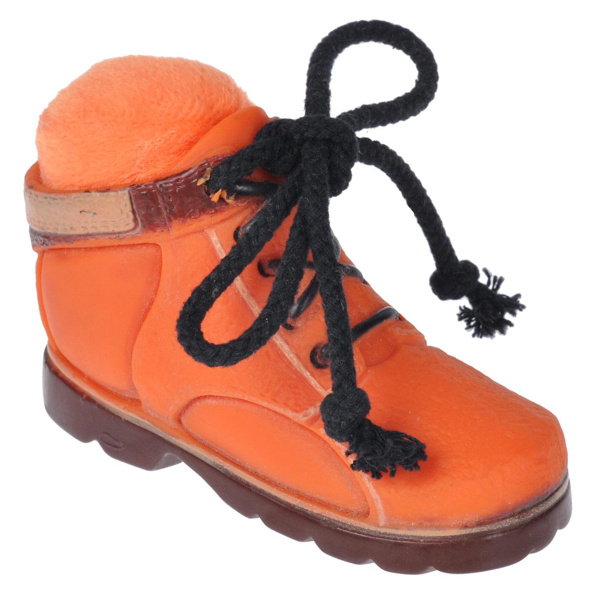 Игрушка для собак Beeztees Ботинок, цвет: оранжевый0120710Игрушка Beeztees Ботинок изготовлена из винила с использованием только безопасных, не токсичных красителей. Великолепно подходит для игры и массажа десен вашей собаки.При надавливании или захвате пастью пищит. Такая игрушка порадует вашего любимца, а вам доставит массу приятных эмоций, ведь наблюдать за игрой всегда интересно и приятно.