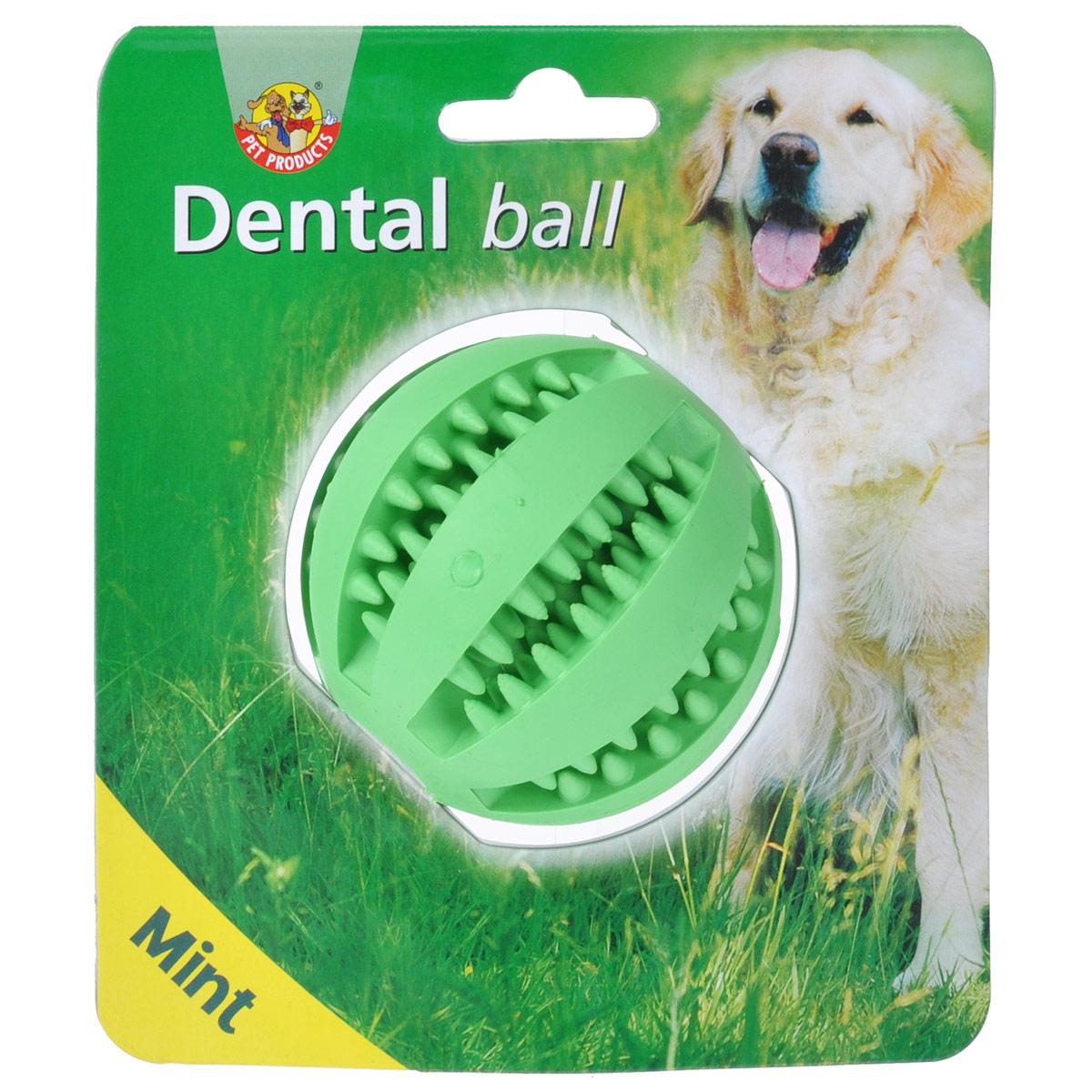 Игрушка для собак I.P.T.S. Мяч массажный, для ухода за зубами, с запахом мяты, диаметр 7 см16211/625596_зеленыйИгрушка для собак I.P.T.S. Мяч массажный изготовлена из прочной цветной резины с мятным запахом в виде мяча. Игрушка оснащена специальными шипами, предназначенными для ухода за зубами. Предотвращает образование зубного камня. Предназначена для игр с собаками любого возраста. Такая игрушка привлечет внимание вашего любимца и не оставит его равнодушным. Диаметр: 7 см.