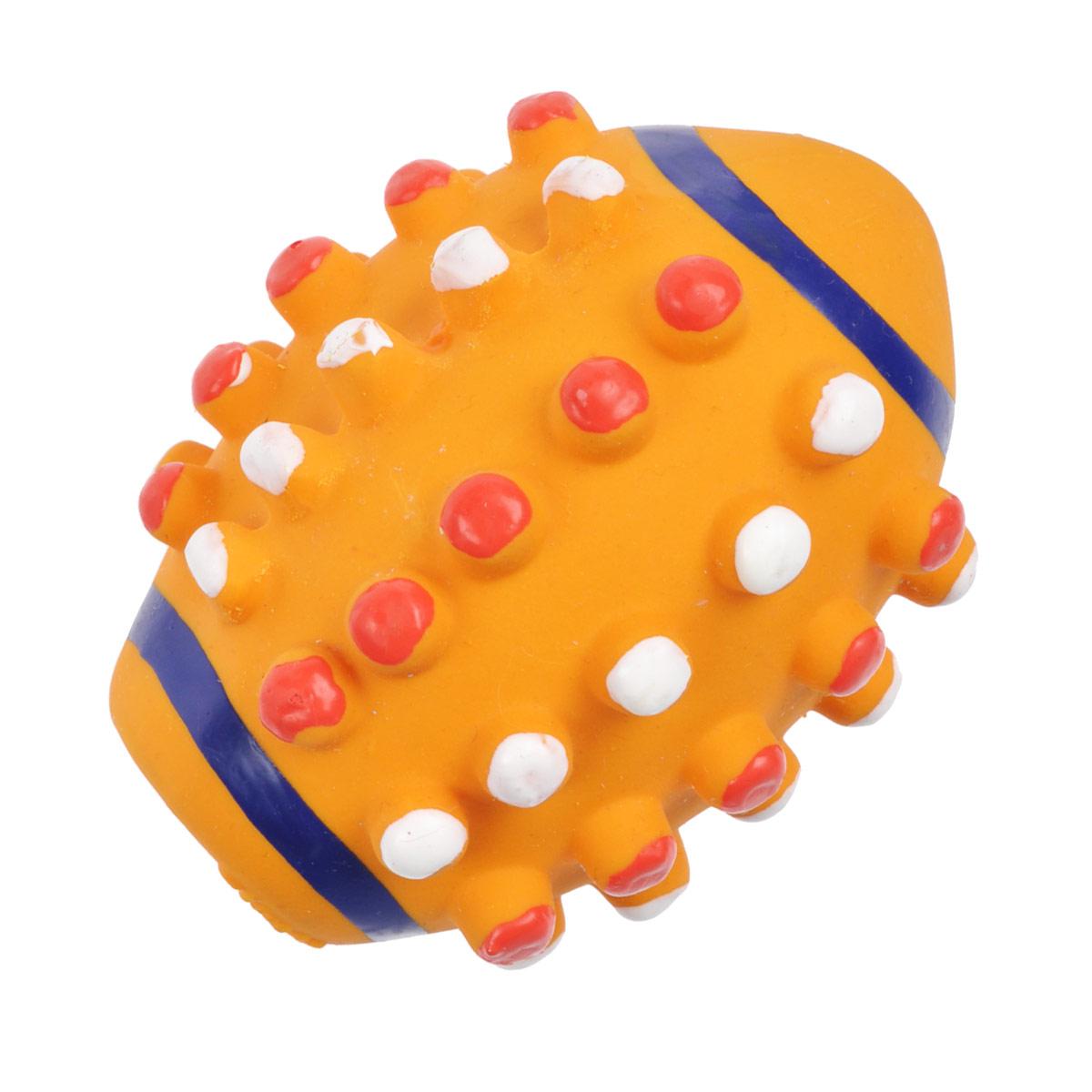 Игрушка для собак I.P.T.S. Мяч регби, цвет: оранжевый0120710Игрушка I.P.T.S. Мяч регби изготовлена из латекса с использованием только безопасных, не токсичных красителей. Такая игрушка порадует вашего любимца, а вам доставит массу приятных эмоций, ведь наблюдать за игрой всегда интересно и приятно.Оставшись в одиночестве, ваша собака будет увлеченно играть в эту игрушку.Диаметр: 10 см.
