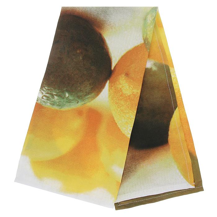 Полотенце кухонное Коллекция Лимон, 50 см х 70 см115510Полотенце Коллекция, выполненное из полиэстера и хлопка, оформлено изображением лимонов и лаймов. Полотенце предназначено для использования на кухне и в столовой. С помощью специальной петельки полотенце можно вешать на крючок.Полотенце Коллекция Лимон - отличный вариант для практичной и современной хозяйки.