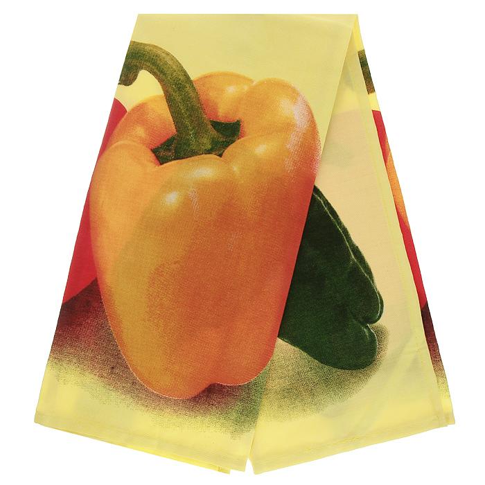 Полотенце кухонное Коллекция Перец, 50 см х 70 смVT-1520(SR)Полотенце Коллекция, выполненное из полиэстера и хлопка, оформлено изображением перцев. Полотенце предназначено для использования на кухне и в столовой. С помощью специальной петельки полотенце можно вешать на крючок.Полотенце Коллекция Перец - отличный вариант для практичной и современной хозяйки.