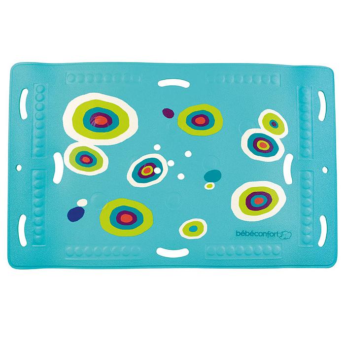 Коврик для ванночки Bebe Confort, нескользящий с термоиндикатором, 27 см х 36 см391602Нескользящий коврик для ванной Bebe Confort с термоиндикатором. Коврик выполнен из ПВХ имеет нескользящую поверхность и присоски, что не даст малышу поскользнуться в большой ванной. Термоиндикатор становится темно-синим, указывая на идеальную для купания температуру воды 35 градусов, и меняет свой цвет, когда температура становится выше. Перфорированная поверхность не позволяет воде застаиваться.