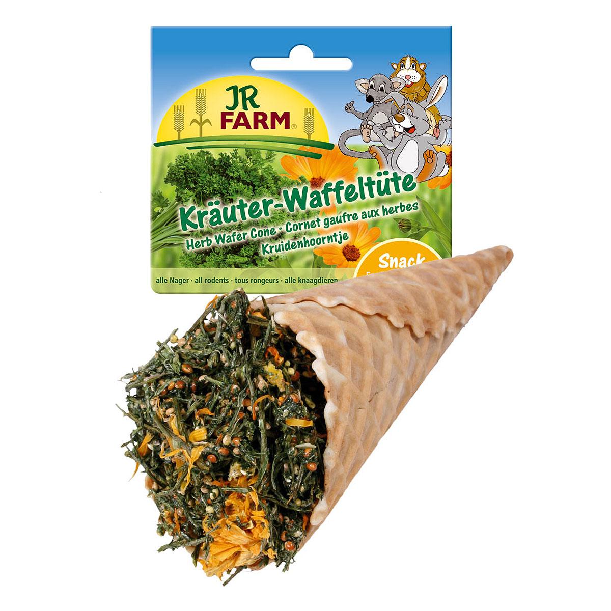 Лакомство для грызунов JR Farm Травы ассорти в вафельном рожке, 60 г0120710Лакомство для грызунов JR Farm Травы ассорти в вафельном рожке - дополнительный корм для карликовых кроликов, морских свинок, крыс, хомяков, дегу, мышей и шиншилл. Имеется специальный держатель для крепления лакомства на клетку.Состав: вафельный рожок, петрушка, желтое просо, красное просо, кукурузные хлопья, крахмал. Вес: 60 г. Товар сертифицирован.