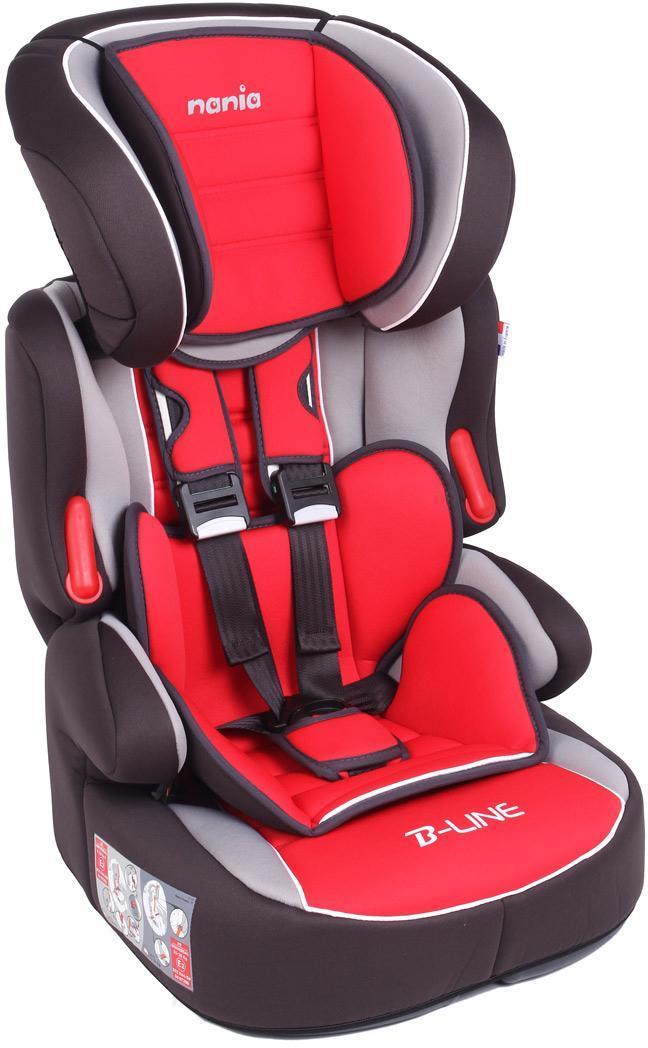 Автокресло Nania Beline SP LX гр.1-2-3 Agora CarminSPC/DK-350 BK/GYАвтокресло Nania Beline SP luxe - стильное, комфортное, предназначено для детишек весом от 9 до 36 килограмм, группы 1 - 2 - 3. Оно обеспечит юному пассажиру максимальную безопасность. У кресла имеется боковая защита, прочный литой каркас, глубокие боковинки, повышающие защиту при столкновении, пятиточечные ремни безопасности (регулируемые) с наплечниками. Особенностью модели является замок на ремнях с предупредительным сигналом. Комфортный регулируемый подголовник в шести позициях, подлокотники, съемное покрытие, которое при необходимости стирается в щадящем режиме. Nania Beline может использоваться со спинкой или без спинки (бустер). В таком креслице ваш ребенок будет чувствовать себя уютно и безопасно.