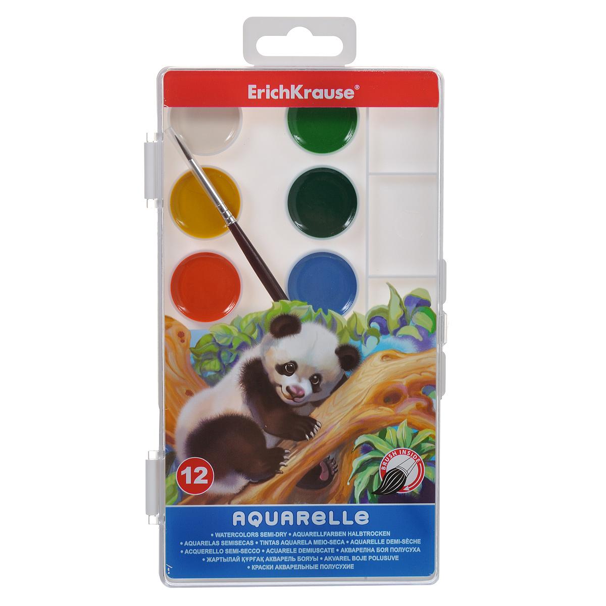 Акварель медовая Erich Krause, с палитрой и кистью, 12 цветовFS-00103Медовая акварель Erich Krause с палитрой идеально подойдет для детского художественного творчества, изобразительных и оформительских работ. Краски легко размываются, создавая прозрачный цветной слой, легко смешиваются между собой, не крошатся и не смазываются, быстро сохнут.Краски 12 цветов представлены в основе круглой формы. В комплект также входит кисть с защитным колпачком. В процессе рисования у детей развивается наглядно-образное мышление, воображение, мелкая моторика рук, творческие и художественные способности, вырабатывается усидчивость и аккуратность.