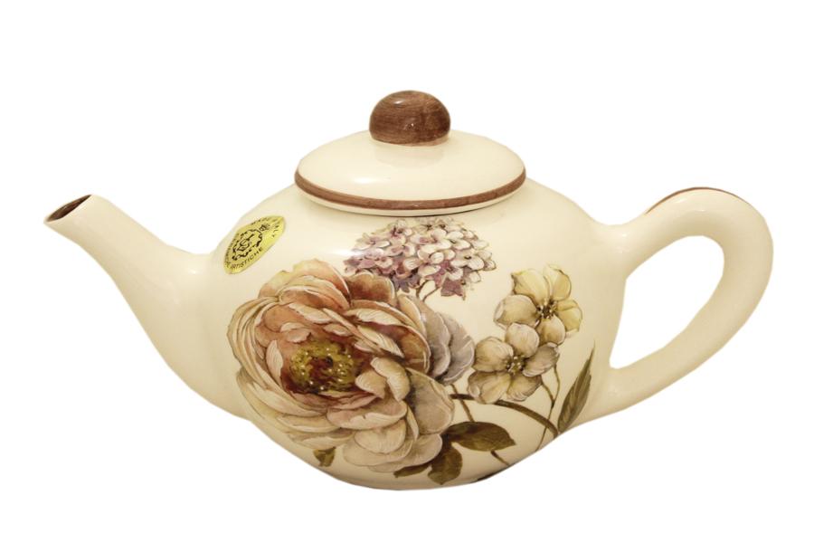 Чайник заварочный LCS Сады Флоренции, 650 мл54 009312Заварочный чайник LCS Сады Флоренции изготовлен из высококачественной керамики.и декорирован изображением цветов.Красочность оформления придется по вкусу и ценителям классики, и тем, кто предпочитает утонченность и изысканность. Оригинальный рисунок придает изделию особый шарм, который понравится каждому.Не использовать в посудомоечной машине и микроволновой печи.Высота чайника (без учета крышки): 10 см. Диаметр по верхнему краю: 6 см.