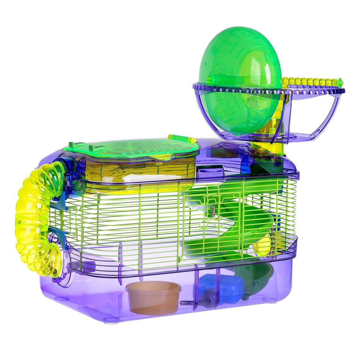 Клетка для грызунов I.P.T.S. X-treme, с игровым комплексом, 54 см х 32 см х 46 см0120710Просторная клетка для грызунов I.P.T.S. X-treme будет служить домом и одновременно местом для экстремальных развлечений. Лабиринты, разные уровни, колесо для упражнений, специальная труба для передвижения - все это позволит грызуну всегда оставаться в хорошей физической форме. Клетка снабжена кормушкой и поилкой. Такая клетка станет уединенным личным пространством и уютным домиком для маленького грызуна.
