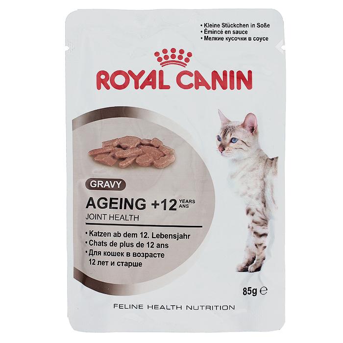 Консервы Royal Canin Ageing +12, для кошек старше 12 лет, 85 г0120710Консервы Royal Canin Ageing +12 - измельченные кусочки в соусе для кошек старше 12 лет. У пожилых кошек старше 12 лет:- Ускоряется процесс старения клеток организма. - Кошка теряет в весе. - Снижается уровень активности.- Наблюдаются поведенческие изменения.Здоровье суставов.Способствует поддержанию здоровья суставов благодаря повышенному содержанию хондропротекторных веществ и незаменимых жирных кислот EPA и DHA. Здоровье почек.Способствует поддержанию здоровья почек пожилых кошек благодаря умеренному содержанию фосфора. Стимулирование аппетита.Инстинктивно предпочитаемый кошками нутриентный профиль. Состав: мясо и мясные субпродукты, злаки, субпродукты растительного происхождения, экстракты белков растительного происхождения, масла и жиры, минеральные вещества, моллюски и ракообразные, углеводы. Добавки (в 1 кг): Витамин D3: 230 ME, Железо: 3,6 мг, Йод: 0,1 мг, Марганец: 1,1 мг, Цинк: 11 мг.Товар сертифицирован.