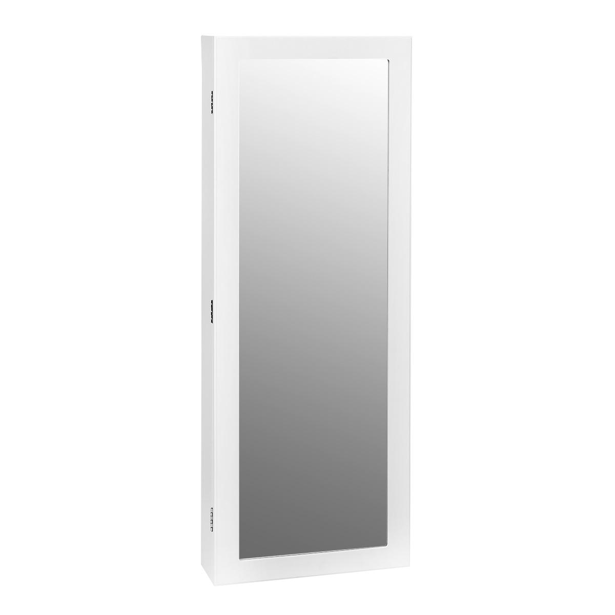 Зеркало-шкаф Bradex Тайник, цвет: белый, 18 х 45 х 117см80621Тайник - это одновременно и шкаф для бижутерии, и зеркало. Подходящее по габаритам для практически любого помещения, зеркало-шкаф поможет Вам красиво уложить Ваши сокровища, при этом Вы не будете терять украшения и всегда будете иметь весь ассортимент под рукой. Внутри шкафа находится множество крючков. На дверце расположено зеркало, которое украсит Вашу комнату и зрительно увеличит ее.Зеркало-шкаф удобно крепится на стене с помощью входящих в комплект шурупов и дюпелей.