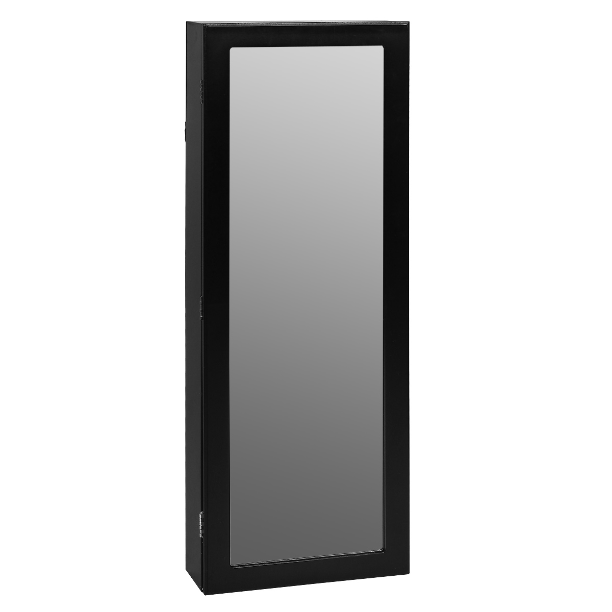 Зеркало-шкаф Bradex Тайник, цвет: черный, 10,5 х 36,8 х 101,5 см36.43.00Тайник - это одновременно и шкаф для бижутерии, и зеркало. Подходящее по габаритам для практически любого помещения, зеркало-шкаф поможет Вам красиво уложить Ваши сокровища, при этом Вы не будете терять украшения и всегда будете иметь весь ассортимент под рукой. Внутри шкафа находится множество крючков. На дверце расположено зеркало, которое украсит Вашу комнату и зрительно увеличит ее.Зеркало-шкаф удобно крепится на стене с помощью входящих в комплект шурупов и дюпелей.