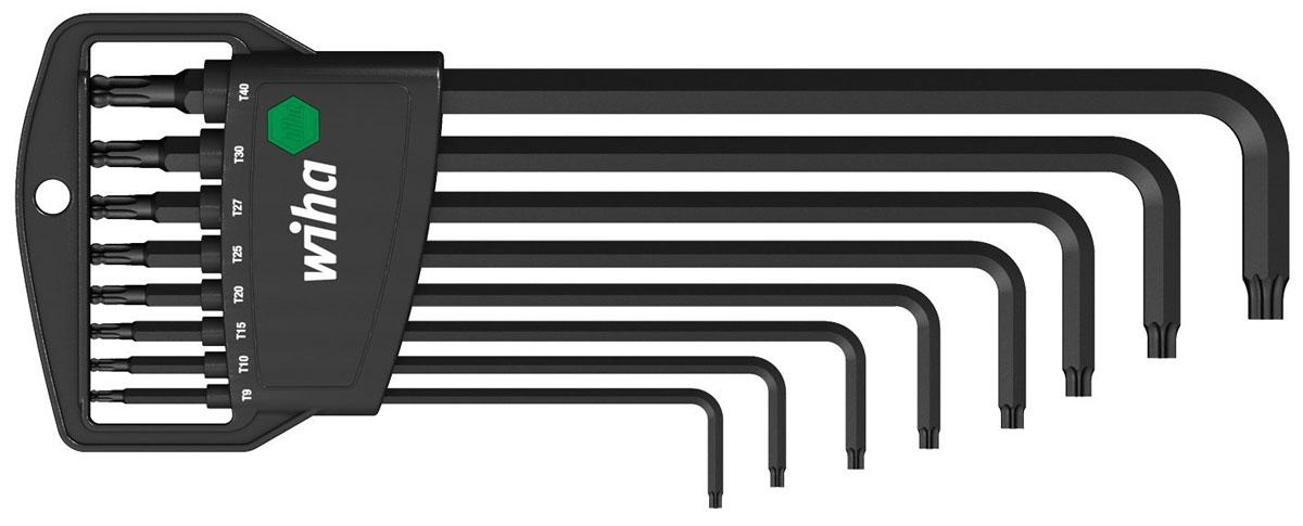 Набор ключей TORX Classic SB366BE H8 со сферической головкой, 8 предметов Wiha 3239598293777Набор ключей Wiha Classic Torx предназначен для винтов с профилем TORX. Угловые ключи удобны при работе в малодоступных местах.Особенности ключей:Хромванадиевая сталь, полная закалка, марганцевое фосфатирование.Для всех труднодоступных винтов TORX.Компактный футляр ProStar позволяет просто извлекать каждый отдельный ключ, не сдвигая другие.Распространенные размеры ключей удобно хранятся в держателе.Простое и быстрое обращение благодаря четкой точке упора для штифтовых ключей.Сферическая головка TORX позволяет закручивать под углом до 25°.С удлиненным профилем TORX за сферической головкой.В набор входят ключи: T9, T10, T15, T20, T25, T27, T30, T40.