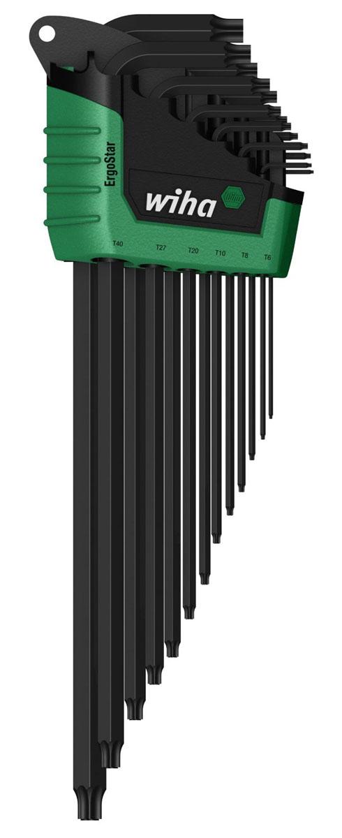 Набор ключей TORX ErgoStar SB366R HZ13 MagicSpring, 13 предметов Wiha36503Набор ключей Wiha ErgoStar Torx MagicSpring предназначен для установки и затяжки винтов TORX в труднодоступных местах. MagicSpring надежно удерживает в любом положении стальные винты и не намагничиваемые материалы, например, высококачественную сталь, титан и алюминий. Пружина (начиная с размера Т6) удерживает винты TORX.Компактный держатель позволяет за счет механического движения просто извлекать каждый штифтовый ключ не сдвигая другие.В набор входят ключи: T5, T6, T7, T8, T9, T10, T15, T20, T25, T27, T30, T40, T45.