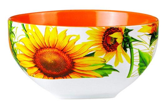Салатник Shenzhen Xin Tianli Подсолнухи, цвет: оранжевый, желтый, 510 мл115510Салатник Shenzhen Xin Tianli Подсолнухи, изготовленный из высококачественной керамики, прекрасно впишется в интерьер вашей кухни и станет достойным дополнением к кухонному инвентарю. Салатник оформлен изображениями подсолнухов. Такой салатник не только украсит ваш кухонный стол и подчеркнет прекрасный вкус хозяйки, но и станет отличным подарком.Можно использовать в посудомоечной машине и микроволновой печи.