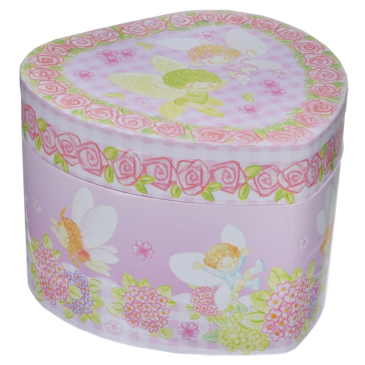 Музыкальная шкатулка Jakos Ангелочки, цвет: розовый jakos маленькая музыкальная шкатулка в форме цветка
