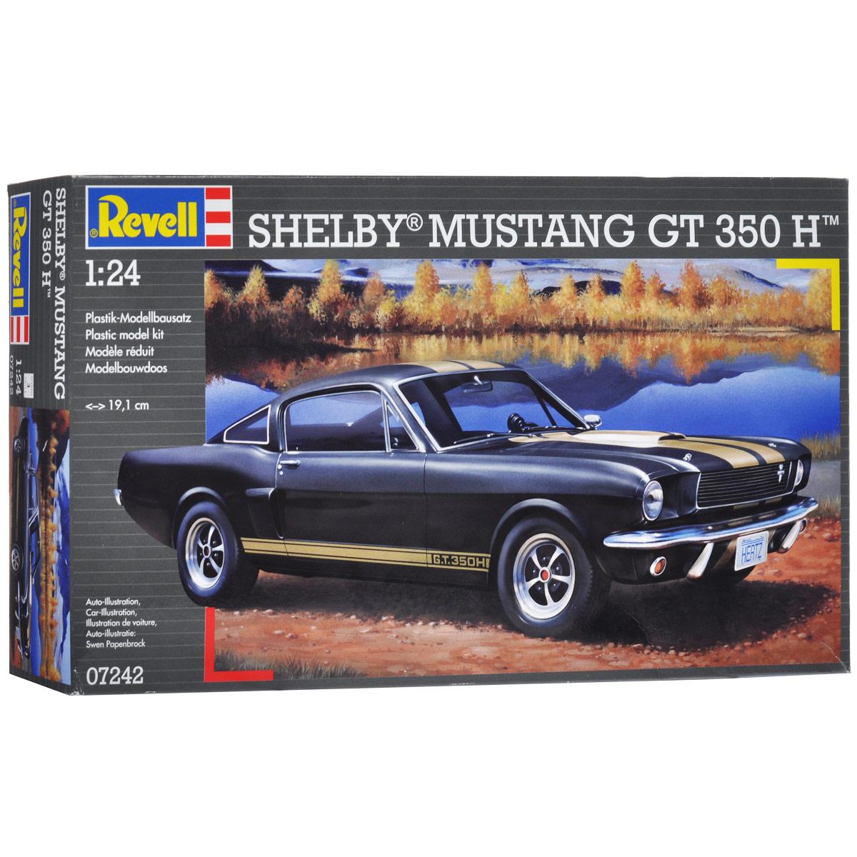 """Сборная модель Revell """"Автомобиль Shelby Mustang GT 350 H"""" поможет вам и вашему ребенку придумать увлекательное занятие на долгое время. Набор включает в себя 86 пластиковых элементов, из которых можно собрать достоверную уменьшенную копию одноименного американского спортивного автомобиля. Также в наборе схематичная инструкция по сборке. Процесс сборки развивает интеллектуальные и инструментальные способности, воображение и конструктивное мышление, а также прививает практические навыки работы со схемами и чертежами. Уровень сложности: 3. УВАЖАЕМЫЕ КЛИЕНТЫ! Обращаем ваше внимание на тот факт, что элементы для сборки не покрашены. Клей и краски в комплект не входят."""