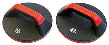 Упоры для отжиманий Lite Weights, поворотные, цвет: черный, красный, 2 шт - Силовые тренажеры