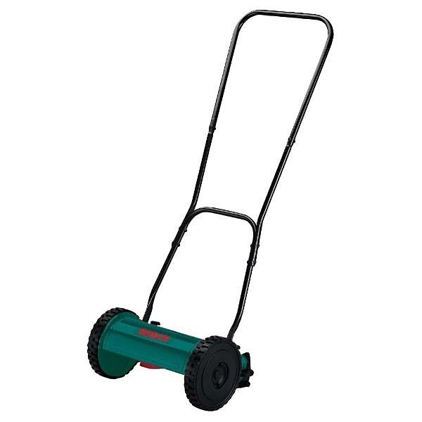 Газонокосилка Bosch AHM 30 (600886001)80653Bosch AHM 30 – механическая газонокосилка, которая окажет вам огромную помощь при стрижке небольших приусадебных газонов. Несмотря на тот факт, что этот инструмент не имеет собственного двигателя, с помощью него вы сможете добиться аккуратного и качественного скашивания. В частности, шпиндельная режущая система с четырьмя вращающимися ножами из закаленной стали позволит ровно и быстро подстригать газон даже при наличии жесткой травы. Причем общая высота среза, ровно как и положение нижнего лезвия, может гибко регулироваться и легко настраиваться без использования вспомогательных средств, так что у вас будет возможность выбрать наиболее подходящий вариант скашивания для того или иного участка газона.Экологичность и комфорт в эксплуатацииBosch AHM 30 0600886001 станет отличным подарком для любого владельца частного дома, который ценит бережное отношение к природе и чистую экологию. Ведь данная газонокосилка приводится в движение исключительно вручную, поэтому во время работы она не выделяет никаких вредных газов, не излучает электромагнитных волн и не создает громкого шума. В то же время небольшой вес (6.4 кг) и подвижные колесики позволят удобно обрабатывать газон без большой нагрузки на спину и руки, а компактные размеры помогут скашивать траву в труднодоступных местах. Плюс ко всему, шпиндельный вал, закрепленный на подшипниках, не требует для себя никаких особых мер по обслуживанию, что также упростит использование инструмента.