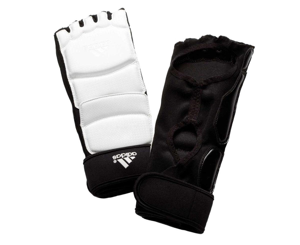 Защита стопы для тхэквондо Adidas Taekwondo Foot Socks WTF, цвет: белый. adiTFS01. Размер XSadiTFS01