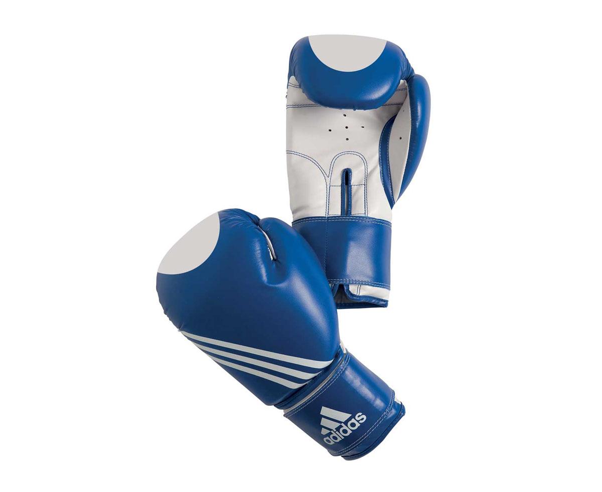Перчатки для кикбоксинга Adidas Ultima Target Waco, цвет: сине-белый. adiBT021. Вес 10 унций