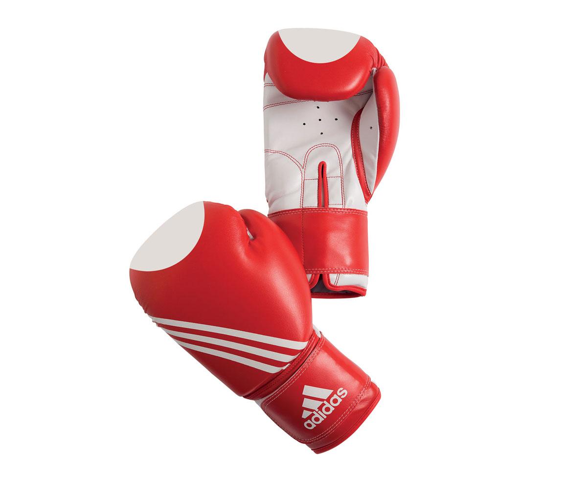 Перчатки для кикбоксинга Adidas Ultima Target Waco, цвет: красно-белый. adiBT021. Вес 12 унций