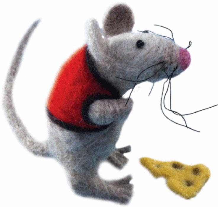 """Набор для валяния """"Вахтанг"""" поможет вам создать свой личный шедевр - оригинальную забавную игрушку, изготовленную из натуральной шерсти. В наборе есть все необходимое для создания собственного чуда: - шерсть для валяния (Новая Зеландия): 5 цветов, - игла для валяния: 2 шт, - бисер (Чехия): 1 цвет, - проволока: 2 цвета, - цветная схема, - инструкция на русском языке. Работа, сделанная своими руками, создаст особый уют и атмосферу в доме и долгие годы будет радовать вас и ваших близких. Ведь вы выполните ее с любовью! Размер готовой работы: 6 см х 10 см."""