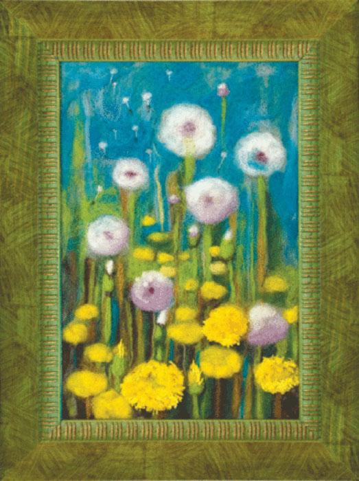 """В наборе для валяния """"Прекрасный миг весны"""" есть все необходимое для создания собственного чуда: - шерсть для валяния (Новая Зеландия) - 13 цветов, - иглы для валяния - 2 шт, - фетровая основа зеленая, - мулине Madeira - 3 цвета, - цветная схема, - инструкция на русском языке. Работа, сделанная своими руками, создаст особый уют и атмосферу в доме и долгие годы будет радовать вас и ваших близких. Ведь вы выполните ее с любовью! Размер готовой работы: 23,5 см х 15,5 см. УВАЖАЕМЫЕ ПОКУПАТЕЛИ! Обращаем ваше внимание на то, что рамка в комплект не входит, а служит для визуального восприятия товара."""