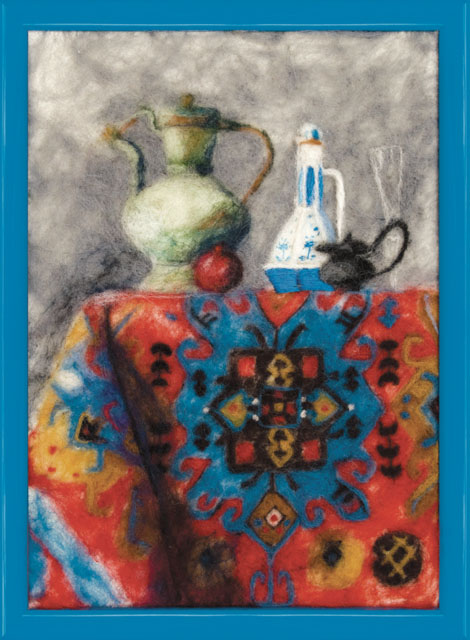 """В наборе для валяния """"Восток"""" есть все необходимое для создания собственного чуда: - шерсть для валяния (Новая Зеландия) - 16 цветов, - иглы - 2 шт, - фетровая основа светло-желтая, - мулине Madeira - 2 цвета, - цветная схема, - инструкция на русском языке. Работа, сделанная своими руками, создаст особый уют и атмосферу в доме и долгие годы будет радовать вас и ваших близких. Ведь вы выполните ее с любовью! Размер готовой работы: 17,5 см х 24,5 см. УВАЖАЕМЫЕ ПОКУПАТЕЛИ! Обращаем ваше внимание на то, что рамка в комплект не входит, а служит для визуального восприятия товара."""