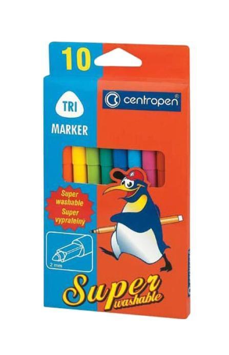 Набор суперсмываемых маркеров Centropen, 10 цветов72523WDХарактеристики: Длина маркера: 15 см. Диаметр наконечника: 2 мм. Размер упаковки:10 см х 18,5 см х 1 см.