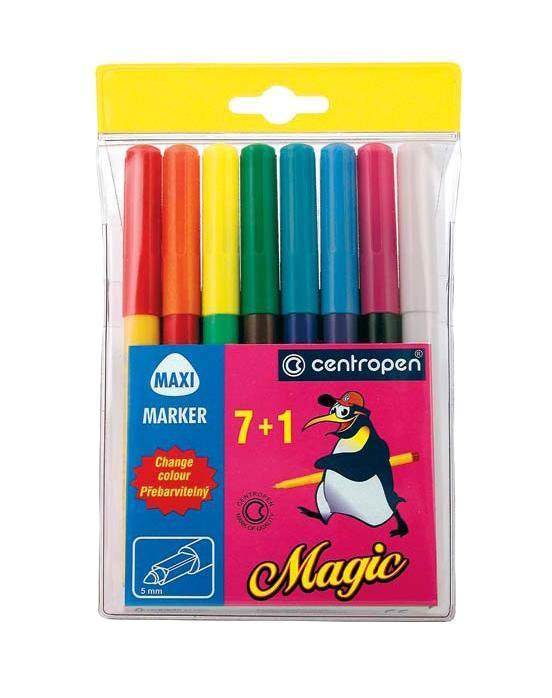 Характеристики: Длина маркера: 14,5 см. Диаметр наконечника: 5 мм. Размер упаковки: 11 см х 18 см х 1,3 см.