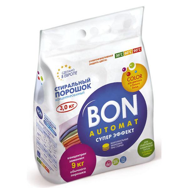 Стиральный порошок Bon Automat Супер Эффект, концентрированный, с поддержкой цвета, 3 кгBN-128