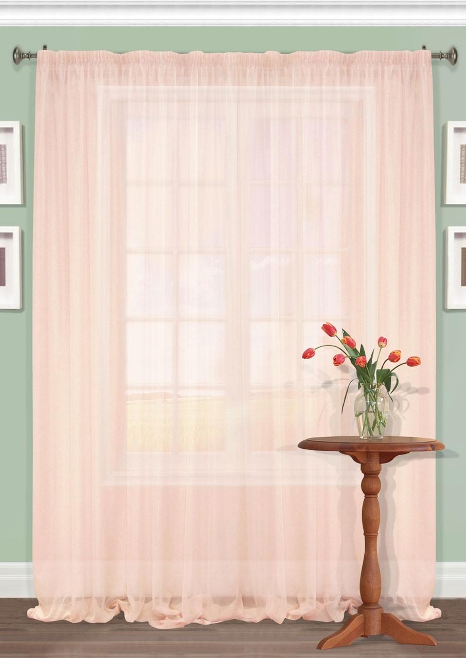 Штора Kauffort Акварель, на ленте, цвет: розовый, высота 287 см. UN111250170K100Роскошная штора Kauffort Акварель выполнена из полиэстера. Материал плотный и мягкий на ощупь. Оригинальная текстура ткани и нежная цветовая гамма привлекут к себе внимание и органично впишутся в интерьер помещения. Эта штора будет долгое время радовать вас и вашу семью!Штора крепится на карниз при помощи ленты, которая поможет красиво и равномерно задрапировать верх.