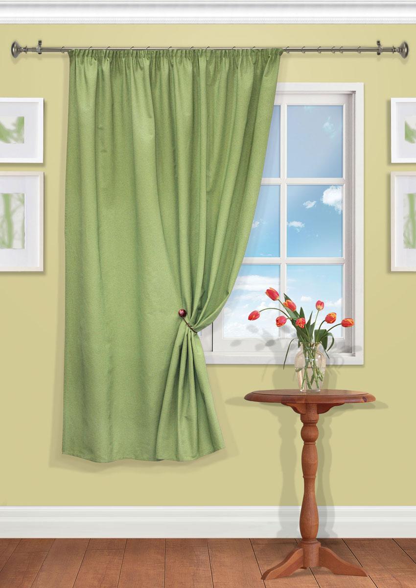 Штора Kauffort Рик, на ленте, цвет: зеленый, высота 180 см. UN111550680SVC-300Роскошная штора Kauffort Рик выполнена из полиэстера и хлопка. Материал плотный и мягкий на ощупь. Оригинальная текстура ткани и нежная цветовая гамма привлекут к себе внимание и органично впишутся в интерьер помещения. Эта штора будет долгое время радовать вас и вашу семью!Штора крепится на карниз при помощи ленты, которая поможет красиво и равномерно задрапировать верх.