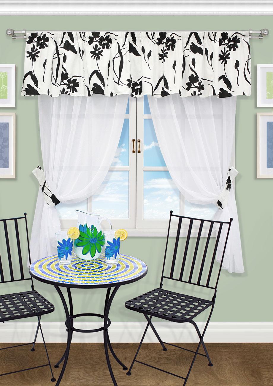 Комплект штор Kauffort Анцио-С, на ленте, цвет: белый, высота 170 см. UN123194610DW90Роскошный комплект штор Kauffort Анцио-С, выполненный из полиэстера, великолепно украсит любое окно. Комплект состоит из 2 штор, ламбрекена и 2 подхватов. Изделия выполнены из прозрачной ткани.Тонкое плетение, оригинальный дизайн и нежная цветовая гамма привлекут к себе внимание и органично впишутся в интерьер комнаты. Все предметы комплекта - на шторной ленте для собирания в сборки.