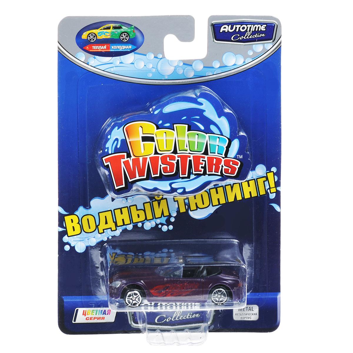 Autotime Машинка Color Twisters, цвет: бордовый машинки autotime машина uaz 31514 ваи